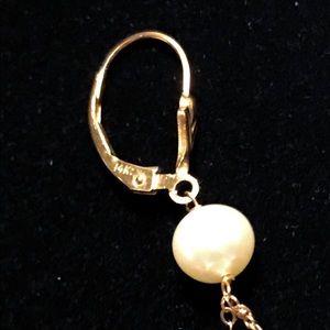 unknown Jewelry - Freshwater Pearl 14k gold Earrings